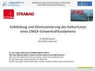 Kolkbildung und Dimensionierung des Kolkschutzes eines OWEA ...