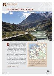 Trollstigen, pdf zum Download. - Nasjonale turistveger