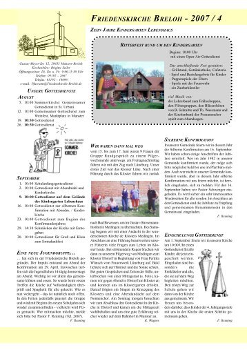 FRIEDENSKIRCHE BRELOH - 2007 / 4