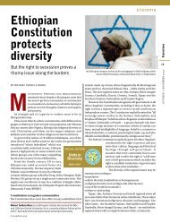 Ethiopian Constitution protects diversity - Forum of Federations