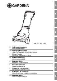 OM, Gardena, Accu Rechargeable Cylinder Lawnmower, Art 04026 ...