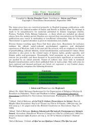 Islam – Peace – Nonviolence A SELECT BIBLIOGRAPHY Compiled ...