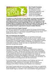 Das Projekt Freestyle: Bewegung und Sport als Schlüssel für eine ...