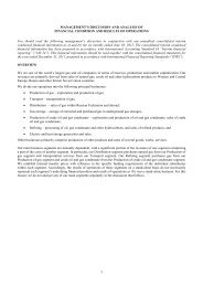 MANAGEMENT'S DISCUSSION AND ANALYSIS OF ... - Gazprom