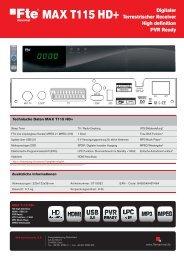 MAX T115 HD+_de.indd - FTE Maximal
