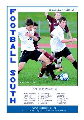 28th May 2011 - Football South