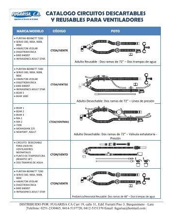catalogo circuitos descartables y reusables para ... - Fugarisa, CA