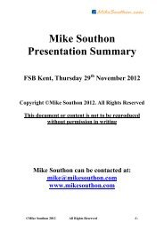 Mike Southon Presentation Summary - Federation of Small ...