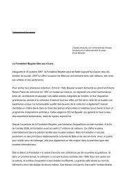 Chargement du texte de presse PDF - Fondation Beyeler