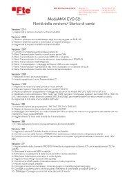 -MediaMAX EVO S2- Novità della versione/ Storico di ... - FTE Maximal