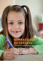 GYMNASTIQUE DU CERVEAU - Fit-4-Future