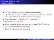 Lezione del 2 ottobre 2012 - Fisica