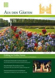 Frühling im Großen Garten - Freunde der Herrenhäuser Gärten eV