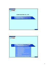 Financial Statement Presentation FUNAI ELECTRIC CO., LTD ...
