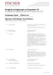 Korrigenda - Galerie Fischer Auktionen AG