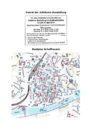 100 Jahre Philatelistenverein Schaffhausen