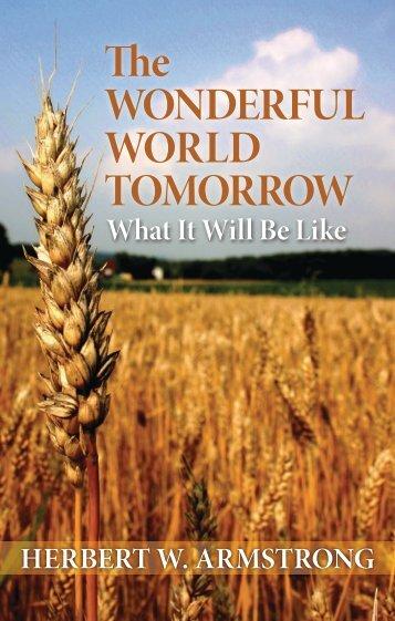 TomorroW: WhaT IT WIll Be lIke - Friends of the Sabbath Australia