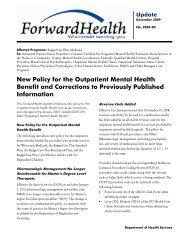 ForwardHealth Update 2009-82 - ForwardHealth Portal