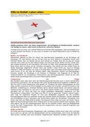 Hilfe im Notfall: Leben retten - Forum-Bioenergetik eV