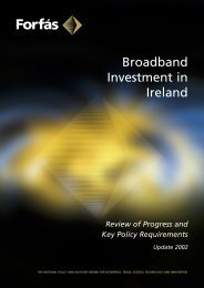 Broadband Investment in Ireland - Review of Progress and ... - Forfás