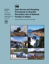 Data Survey and Sampling Procedures to Quantify Recreation Use ...