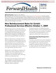 ForwardHealth Update 2009-58 - ForwardHealth Portal