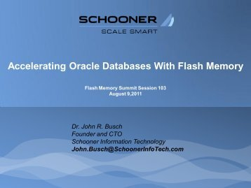 Accelerating Oracle Databases With Flash Memory