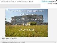 Guido Speck - Forums Gesundheitswirtschaft Basel