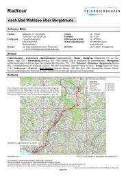 nach Bad Waldsee über Bergatreute Radtour - Friedrichshafen