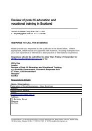 Review of post-16 education and vocational training in Scotland