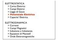 + Potenziale Elettrico - Fisica