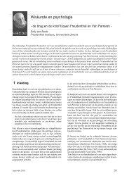 Wiskunde en psychologie - Freudenthal Instituut - Universiteit Utrecht