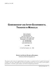 gamesmanship and inter-governmental transfer in ... - Fiscal Reform