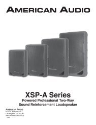 XSP-A Series User Manual - American Audio