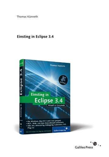 Einstieg in Eclipse 3.4 - Galileo Computing