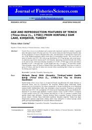 AGE AND REPRODUCTION FEATURES OF TENCH (Tinca tinca (L ...