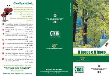 Depliant bambini (322.89 KB) - Corpo Forestale dello Stato