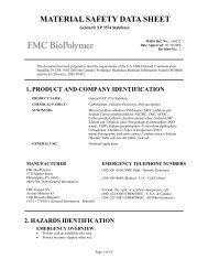 Gelstar® XP 3574 Stabilizer - FMC Corporation