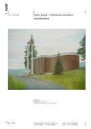Peter Busch / Katharina Immekus - Galerie b2