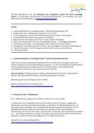 Herzlich Willkommen zum 13.NewsletterdesProgramms ...