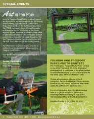 SPeCIAL eVenTS - Freeport Park District