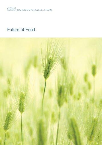 Initial perspective on Future of Food - Future Agenda