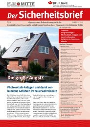 Sicherheitsbrief 29 - Deutscher Feuerwehrverband