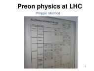 Preon physics at LHC