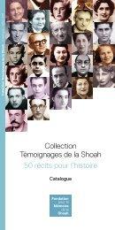 Catalogue - Fondation pour la Mémoire de la Shoah