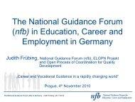 Folie 1 - Nationales Forum Beratung in Bildung, Beruf und ...