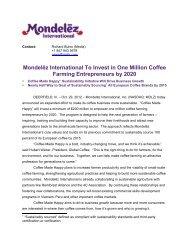 Mondel?z International To Invest in One Million ... - FoodDrinkEurope