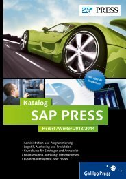 Katalog SAP PRESS - Galileo Computing