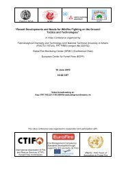 Conference conclusions - The Global Fire Monitoring Center (GFMC)