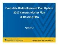 Evansdale Redevelopment Plan Update 2012 Campus Master Plan ...